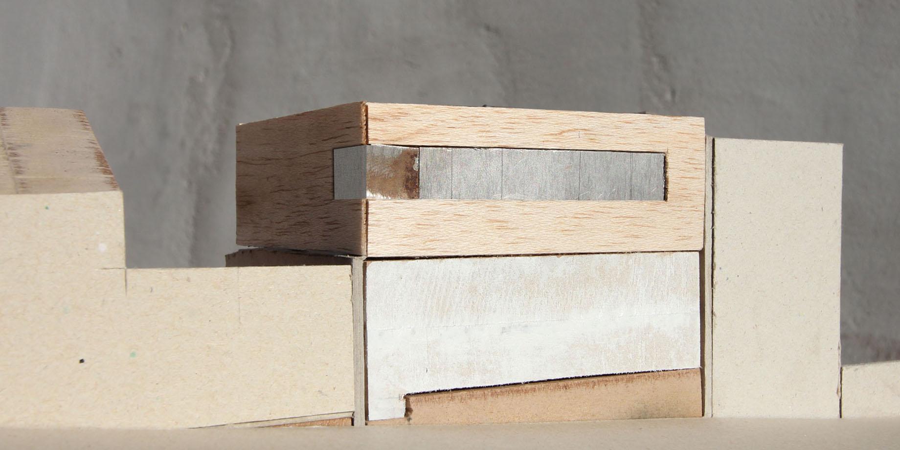 maskarade-architecture-surelevation-maison-individuelle-bois-zinc-maquette